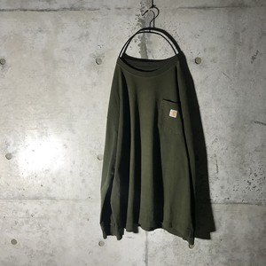 [Carhartt]deep green long shirt