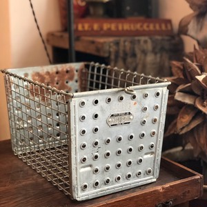 Vintage Steel Basket 212