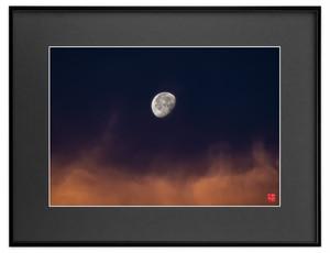 朝焼けの月(ブラックボード)A3サイズ