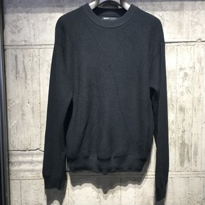 【08sircus】Ridge knit crew neck sweater