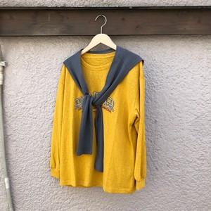 セーラーカラータイTシャツ カラー: Mustard