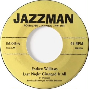 Esther Williams / Tommie Young ‎– Last Night Changed It All / Hit And Run Lover