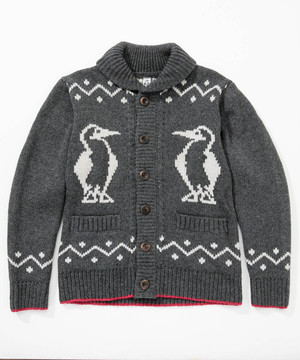 CHUMS(チャムス) Booby Cowichan Knit Jacket (ブービーカウチンニットジャケット) Charcoal (チャコール) CH04-1085