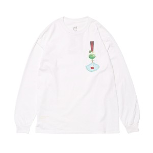 EVISEN CHERRY POP LS WHITE L TEE