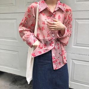 【トップス】レトロ韓国風長袖薄手日焼け止め合わせやすい小柄シャツ21734350