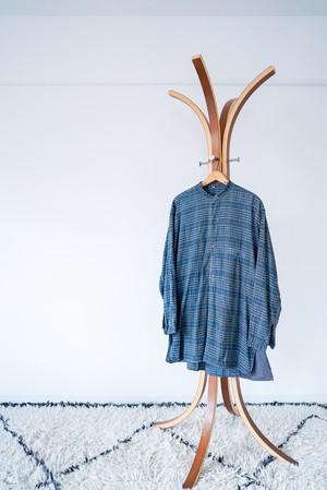 "【1950s】""French Made"" Euro Vintage Grandpa Shirts / v501"