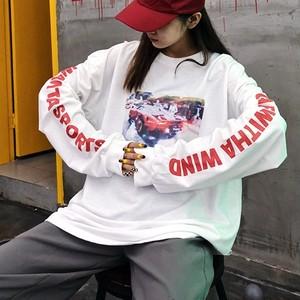 【お取り寄せ商品】英字プリントのロングTシャツ 9651