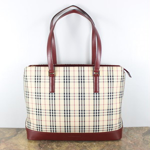 .BURBERRY CHECK PATTERNED TOTE BAG/バーバリーチェック柄トートバッグ 2000000041254