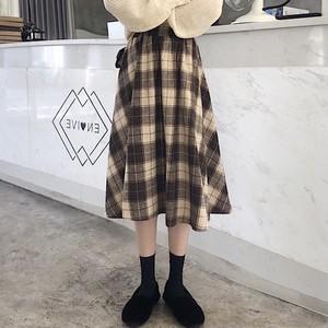 【ボトムス】レトロレディースチェック柄ハイウエストスカート25482283