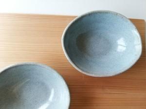 灰釉オーバル小鉢