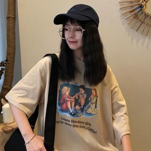 【トップス】春新作合わせやすいカジュアルカートゥーン半袖ラウンドネックTシャツ