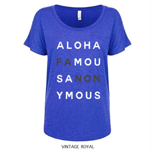 [WOMAN]ALOHA FANON TEE -VINTAGE ROYAL-