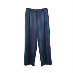 TTT MSW STRIPE WIDE TROUSERS GREEN