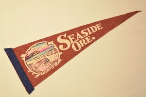 USED Vintage Pennants Seaside OREGON 01029