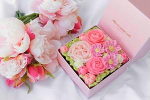 【Blossom Pink】Premiumボックスフラワーケーキ