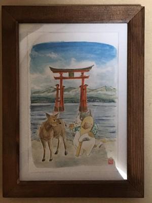 旅猫ミケ 広島 厳島神社