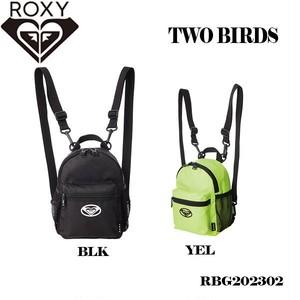 RBG202302 ロキシー リュック バックパック バッグ レディース タウンユース 通勤 通学 アウトドア 旅行 黒 黄色 ブラック イエロー コンパクト 2L ROXY