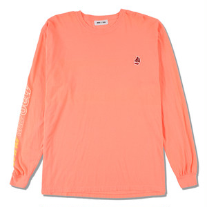 WDS(sail-boat) L/S T-SHIRT (WDS-20A-CS-02) WIND AND SEA PINK