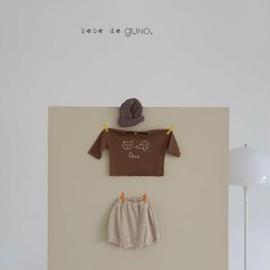 guno cat+dog T お絵かきT 韓国子供服 guno  韓国子供服 トップス  TA0017