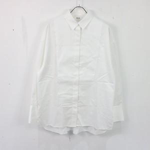 ebure / エブール | ロゴ刺繍ロングカフスシャツ | 38 | ホワイト | レディース