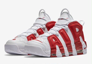 """NIKE AIR MORE UPTEMPO """"RED/WHITE"""" メンズサイズ"""
