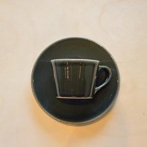 つかもと 益子焼 コーヒーカップ&ソーサー(皿) 呉須釉