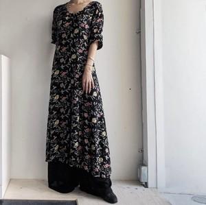 USA vintage floral pattern maxi