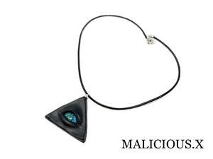reptiles eye necklace / blue