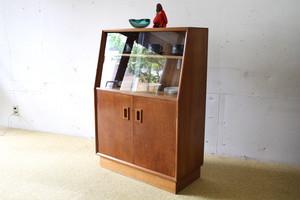 50's Glazed Cupboard / 50's オーク製 キャビネット 食器棚 本棚