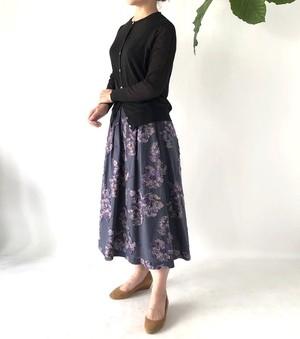 フラワーモチーフのジャガードスカート #9608 #KEIKO SUZUKI ケイコ スズキ