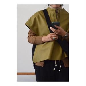 Simva 101-0012-Olv Leather/Wool Tunic Olive