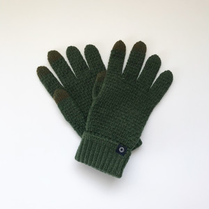 """カシミヤグローブ【 Pure  cashmere  """"tebukuro"""" Green  】"""