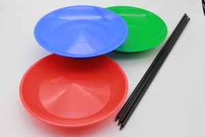 【2名分(2セット)】余興やワークショップで大人気!皿回しセット(皿・スティック付)スピニングプレート/ジャグリング