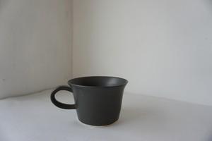 眞砂眞砂子 ティーカップ 黒