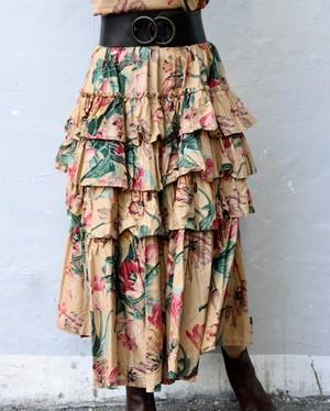 70's KENZO Tiered Skirt