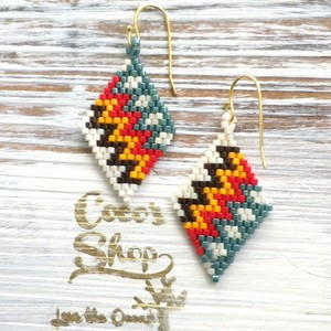 Rhombus  Pierce  Native pattern -Yellow-