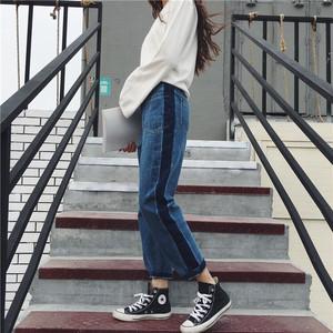 【即納♡】line wide jeans pants 3567