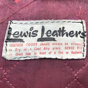 1970s Lewis Leathers Dallas Black Leather Jacket