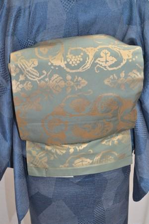【袋帯】スモーキーグリーン☆丸市錦