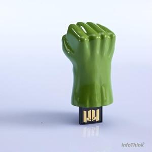 InfoThink USBメモリ MARVEL アベンジャーズ USBフラッシュドライブ 8GB ハルク IT-A08GHU
