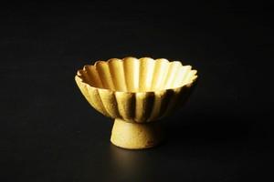黄瀬戸菊割高台小鉢 清水焼
