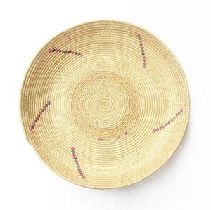 フラニ族の平かご 柄4 / Fulani Basket Pattern 4