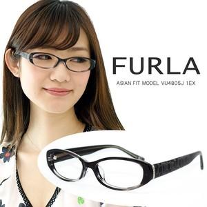 フルラ メガネ VU4805j 1ex FURLA 眼鏡 ジャパンフィット モデル ブラック×グレー セル フレーム レディース 女性用