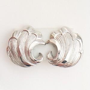 silver design earring[e-853]