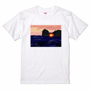 円月島のTシャツ(ホワイト) サイズ/XXL