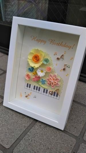 オリジナルイラスト・クイリングフレーム(ピアノ)