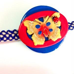 s293 黄色い蝶々 帯飾り(ブローチ)
