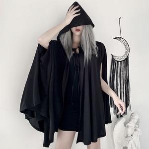 3568ハロウィン レディース 仮装 コスプレ衣装 Halloween マント コスチューム パンク ゴシック 黒