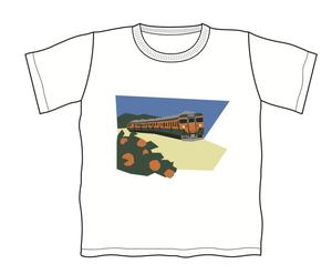 トレインTキッズ 113系湘南電車とみかん畑(白・ネイビー)  キッズサイズ