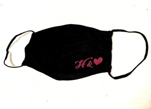 H &♡マスク 白・黒 2枚セット